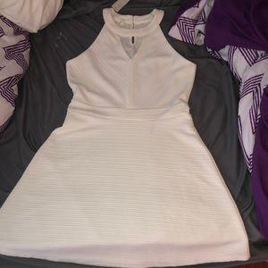 simple white sleeveless dress